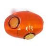 Glass Lamp Bead 14x10mm Oval Orange